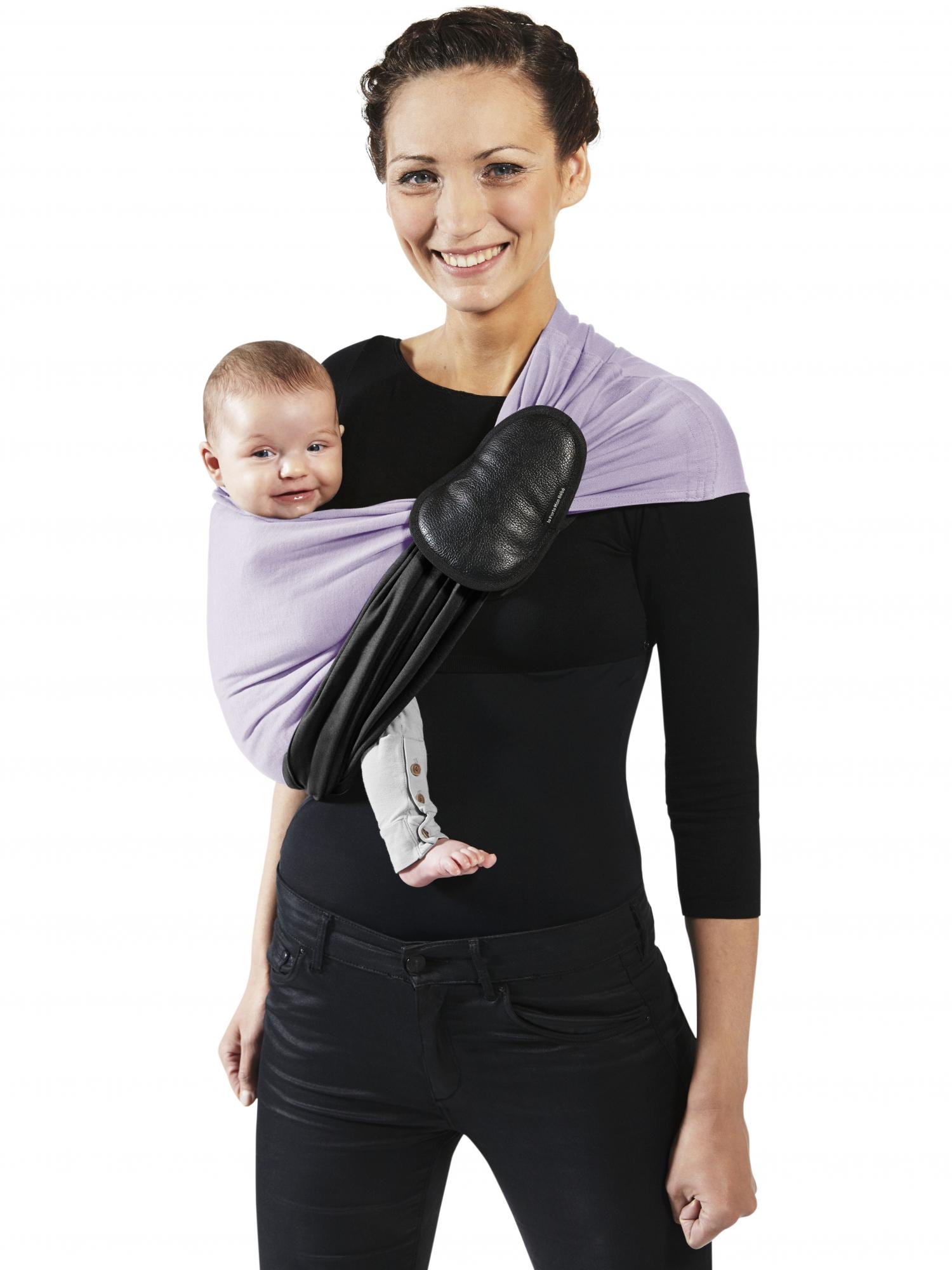 je porte mon bebe soft ring sling black lavender jpmbb pesn the baby sling boutique